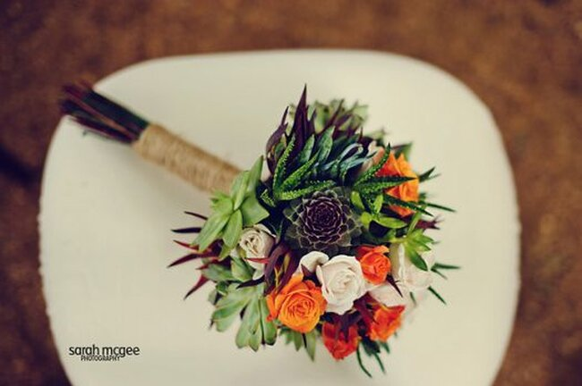 Os cactus e suculentas no seu casamento.