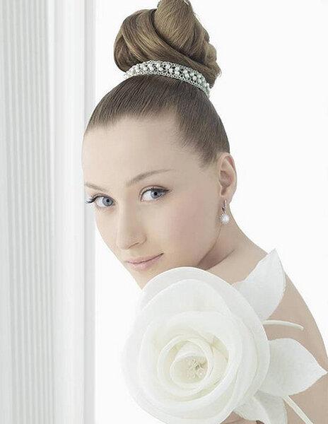Aretes con perlas para novia