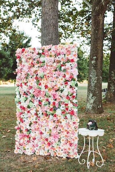 Vertikale Gärten für die Hochzeit