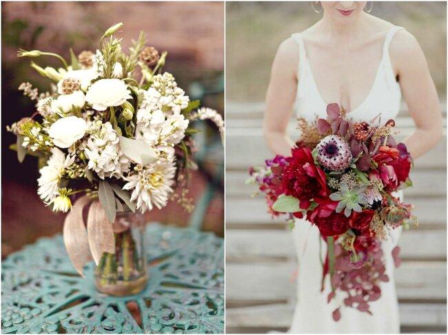 Jesienne kompozycje florystyczne na wesele, Foto: Almond Leaf Studios & Adoney Jaja