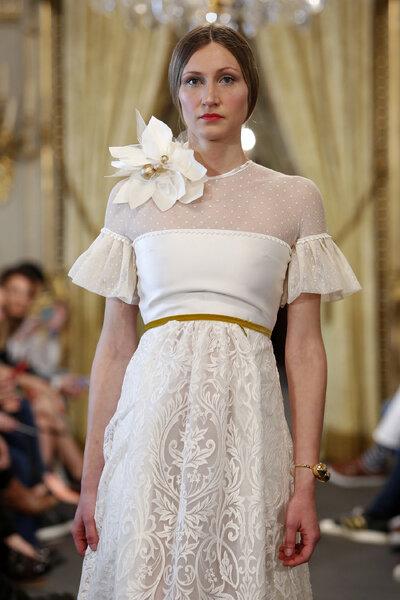 Vestidos de noiva com babados 2017 apaixonantes for Atelier couture a nantes