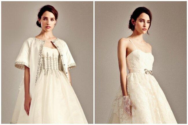 Vestidos de novia largos por delante y cortos por detrás.