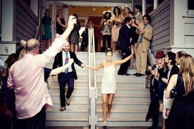 5 razones para usar un vestido de novia corto