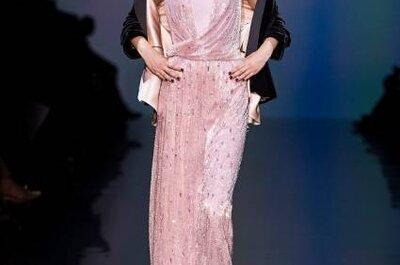 Vestidos para convidadas Armani, coleção 2013