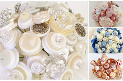 Alternative Button Bridal Bouquets by Angela's Artistic Designs