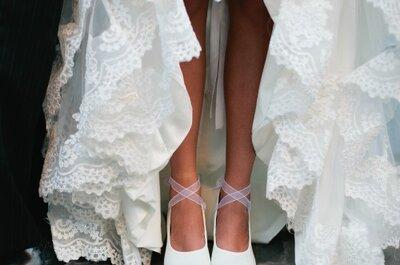 Zapatillas para novias románticas y elegantes