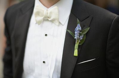 Los más originales y coloridos boutonnieres para tu novio: Flores que darán vida a un look perfecto