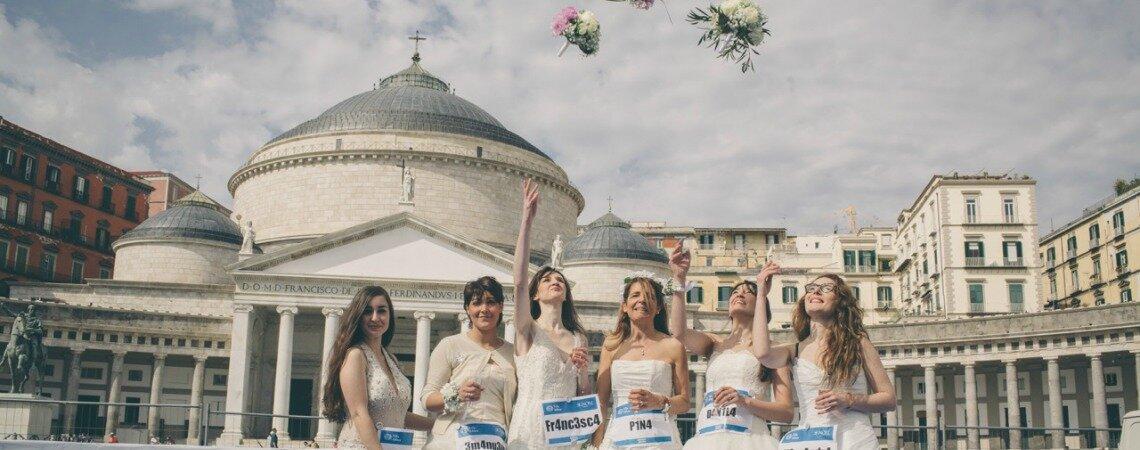 In gara con l'abito da sposa: cosa è accaduto durante la maratona di Telethon?