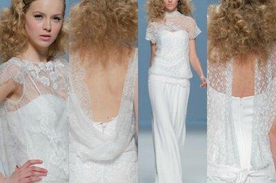 Vestidos de novia con espalda descubierta 2015