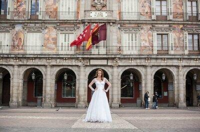 Editorial em Madri: vestidos de noiva Carol Hungria 2015 românticos e cheios de personalidade