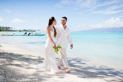 Plongez dans les eaux turquoises de Tahiti avec le mariage de rêve de Lee + Romina
