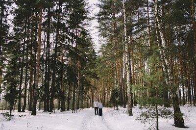 Свадебная фотосессия Киры и Дениса: последние хлопья снега