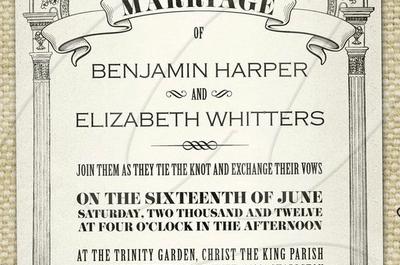 Convites de casamento originais, vintage e chic