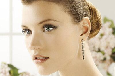 Aretes de diamantes para novia de Pronovias 2013
