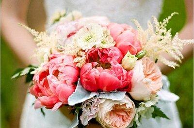 Combina en tu bouquet colores fuertes y tonos pasteles