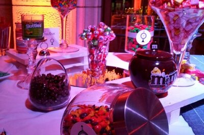 Adorna tu matrimonio con un original candy bar