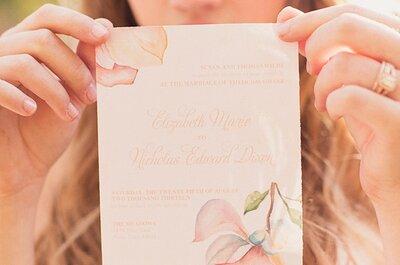 Tendencia en invitaciones de boda: Acuarelas