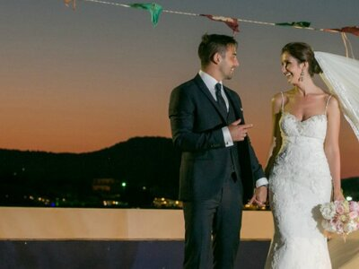 Real Wedding: Magda and Jimmy's Romantic Destination Wedding in Rhodes