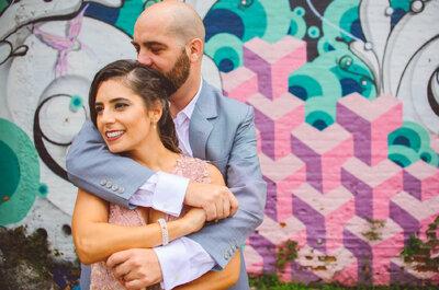 Casamento urbano com decor vintage super original e colorida de Heloísa & Juan em São Paulo!
