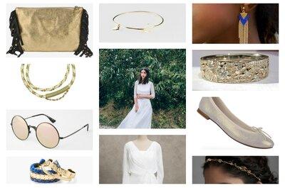Look pour une mariée boho chic : une superbe robe Aurélia Hoang et ses dix accessoires