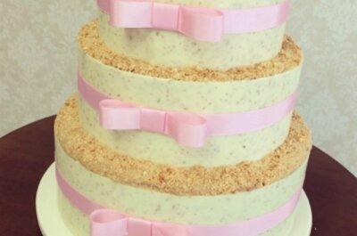 17 bolos de casamento lindos e deliciosos estilo Naked Cake perfeitos para decorar ainda mais sua mesa!
