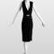 Vestido corto en negro con escote seductor. Foto: www.lanvin.com