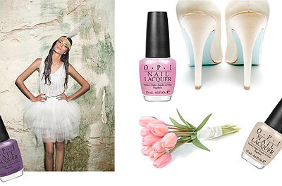 Ongles de la mariée : du pastel et rien d'autre !