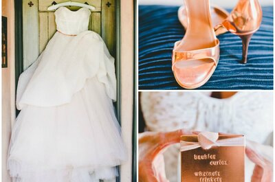 Champagne Pink and Rose Gold: Patricia + Christopher's Wedding in California