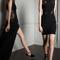 Vestidos de fiesta 2014 en color negro con detalles bordados de encaje