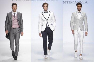 Tendencias reinventadas para los chicos: Trajes de novio primavera 2015