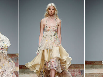 Atrévete con un vestido de novia con estampado floral para el 2016