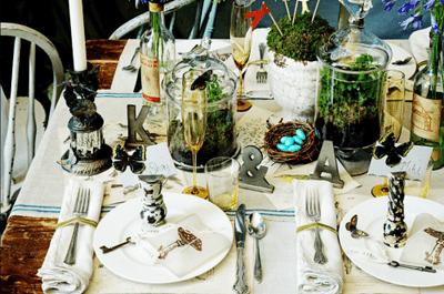 Centros de mesa al natural: tierra, plantas y más