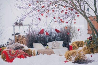Декор русской народной зимней свадьбы: последний день зимы в компании профессионалов