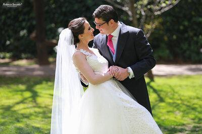 La boda más trendy con flores preciosas: Carolina y Mauricio en el gran día de sus sueños