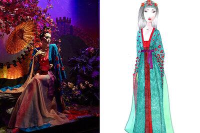 Vestido de novia inspirado en Mulan