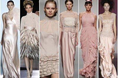 Vestidos de fiesta color nude 2013, mucho dónde elegir