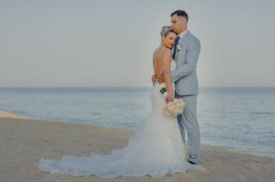 Romance absoluto junto al mar: La boda de Jenna y Bogdan