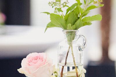 Bloemdecoratie voor op je bruiloft: vrolijke kleuraccenten