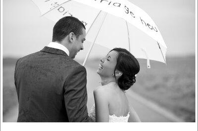 Un matrimonio sotto la pioggia