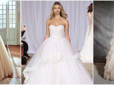 Vestidos de novia con falda voluminosa 2017: ¡Diseños como de cuento!