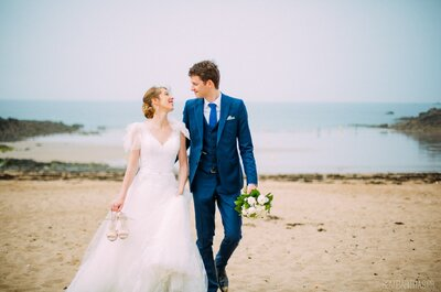 Le mariage de Justine + Martin dans un joli domaine breton