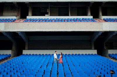 Fotos en pareja de Adriana y Mode con tema de beisbol