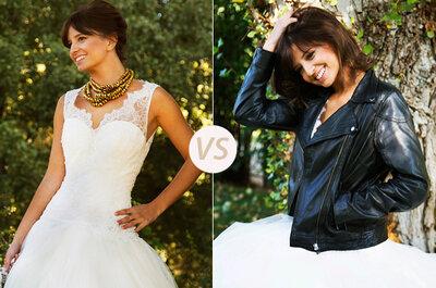 Un vestido, dos novias: Sofisticada vs Rockera