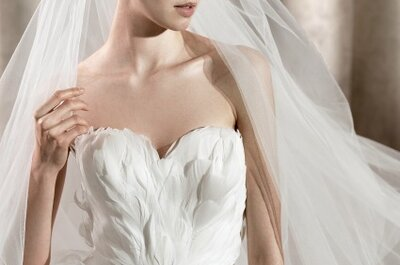 Vestidos de novia con plumas para el invierno 2012-13