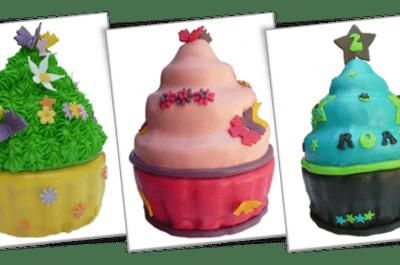 De nieuwste trend op bruidstaart gebied: de mega cupcake!