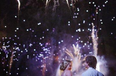 ¡Fuegos artificiales en tu boda!
