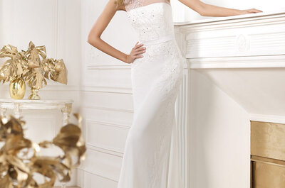 Suknie ślubne 2014: Pronovias, kolekcja Fasnion