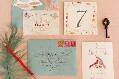 Descubre las tendencias en invitaciones de boda 2015. ¡Te encantarán!