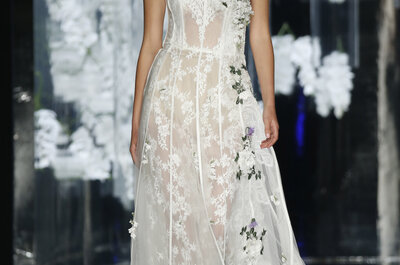 The all time classic, strapless wedding dress helping you achieve that real bridal look