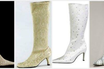 ¿Te casas en invierno? Luce unas botas de novia